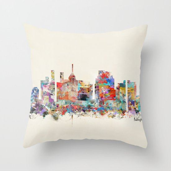 raleigh north carolina Throw Pillow