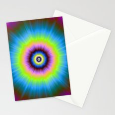 Tie-Dye in Blue Pink Yellow and Green Stationery Cards
