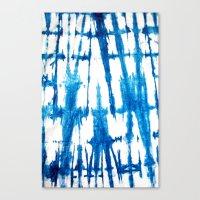 Shibori Lines Canvas Print