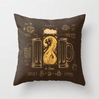 Le Beer (Elixir of Life) Throw Pillow