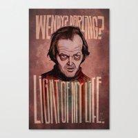 Light of my Life // The Shining Canvas Print