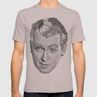 James Stewart Mens Fitted Tee Cinder SMALL
