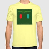 No093 My The Matrix minimal movie poster Mens Fitted Tee Lemon SMALL