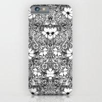 BECAUSE black and white mandala iPhone 6 Slim Case