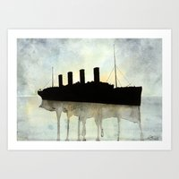 Titanic watercolour Art Print