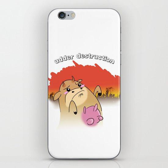 """""""udder destruction"""" iPhone & iPod Skin"""