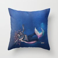 Mermaid & Sailor Throw Pillow