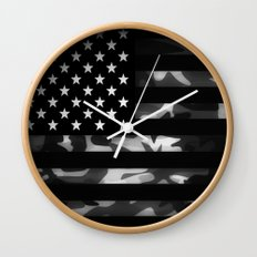 American camouflage Wall Clock
