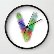 Letter V Wall Clock