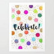 Art Print featuring Celebrate! by Elisabeth Fredriksso…