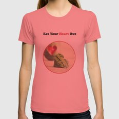 Eat Your Heart Out Womens Fitted Tee Pomegranate SMALL