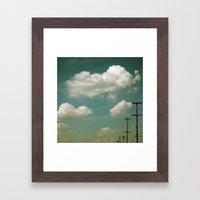 Electric Blue Framed Art Print