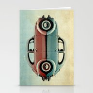 Stationery Cards featuring Love Bug by Vin Zzep