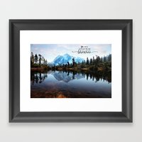 Mt Shuksan-adventure Framed Art Print