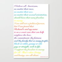 Project: June 12 A Quote… Canvas Print