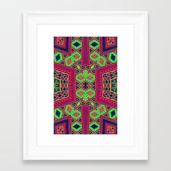 Eco Azteca Framed Art Print