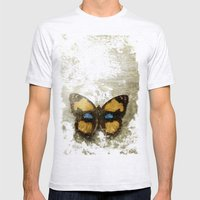 Vintage Butterfly 2 Mens Fitted Tee Ash Grey SMALL