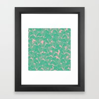 Palm Tree Pattern Framed Art Print