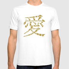 Love (gold) SMALL Mens Fitted Tee White