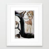 Flutter By Framed Art Print