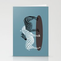 Zebra Embrace Stationery Cards