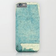 Alabama Map Blue Vintage iPhone 6 Slim Case
