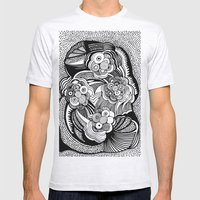 Blossom B&W Mens Fitted Tee Ash Grey SMALL