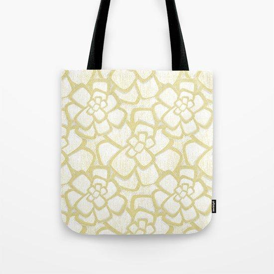 Brom yellow (in repeat) Tote Bag