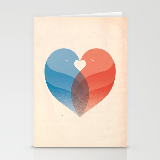 Lovebirds Stationery Card