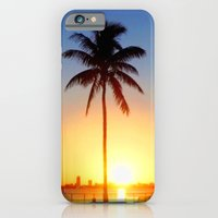 iPhone & iPod Case featuring Miami Sunrise by JT Digital Art