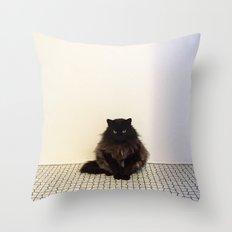 A Lone Cat  Throw Pillow