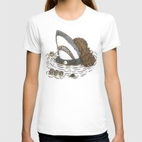 The Mullet Shark Womens Fitted Tee White SMALL