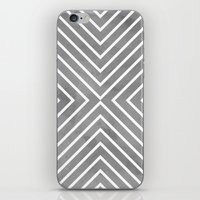 Stripes In Grey iPhone & iPod Skin