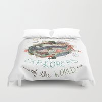 Let's Be Explorers  Duvet Cover