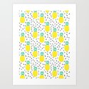 Pineapple fun modern minimal scandi design fresh fruit tropical island summer beach socal vegan Art Print