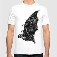 Leather Wings Mens Fitted Tee White SMALL