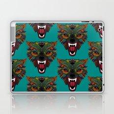 wolf fight flight teal Laptop & iPad Skin