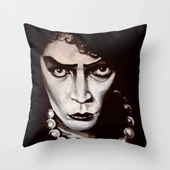 "Rocky Horror Picture Show ""Sweet Transvestite"" Throw Pillow"