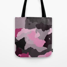 Black Gray and Pink Camouflage Tote Bag