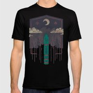 The Lost Obelisk Mens Fitted Tee Black SMALL