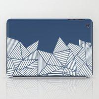 Abstract Mountain Navy iPad Case