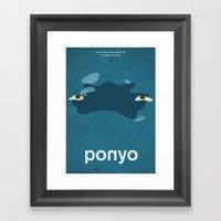 Ponyo Framed Art Print
