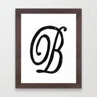 Monogrammed Letter B Framed Art Print