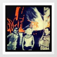 Skags On Parade V2.0 Art Print