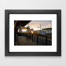 Acela Afternoon Flyby Kingston Railroad Station Framed Art Print