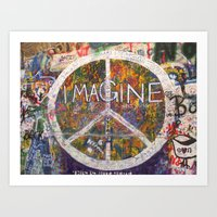 Imagine - Lennon Wall Art Print
