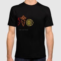 Eat Real Food. (dark) Mens Fitted Tee SMALL Black