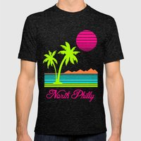 Tropical North Philly Mens Fitted Tee Tri-Black SMALL