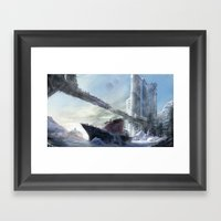 Icy Harbour Framed Art Print