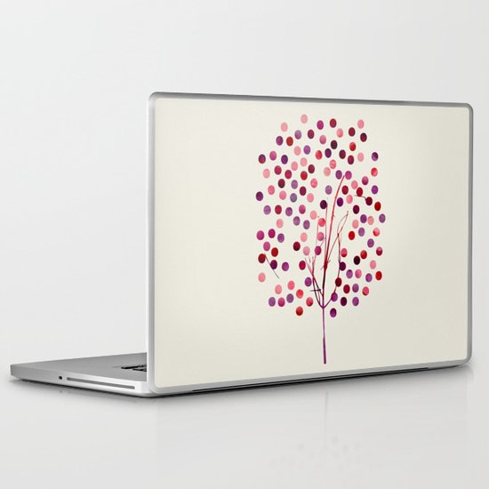 Tree of Life_Berry by Jacqueline & Garima Laptop & iPad Skin